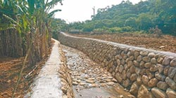 淡水護岸整修 不怕雨淹農地