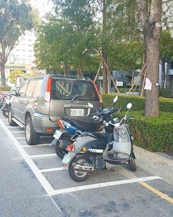 汽車停車格變機車格 接罰單氣炸
