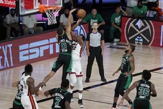 NBA》吉米巴特勒關鍵三分打 熱火延長擊退綠衫軍