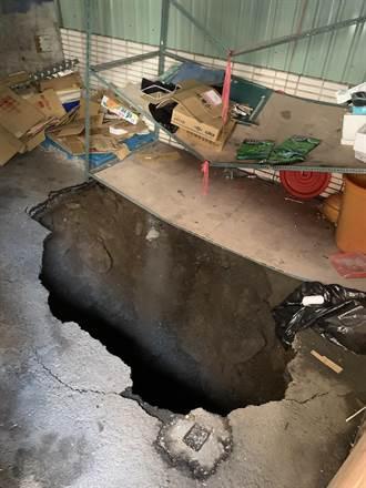 基隆學童墜7米大坑 疑因箱涵頂板破損導致