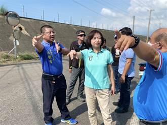 淹50年 草堤路低漥路段改善工程開工 立委何欣純籲注意行車安全