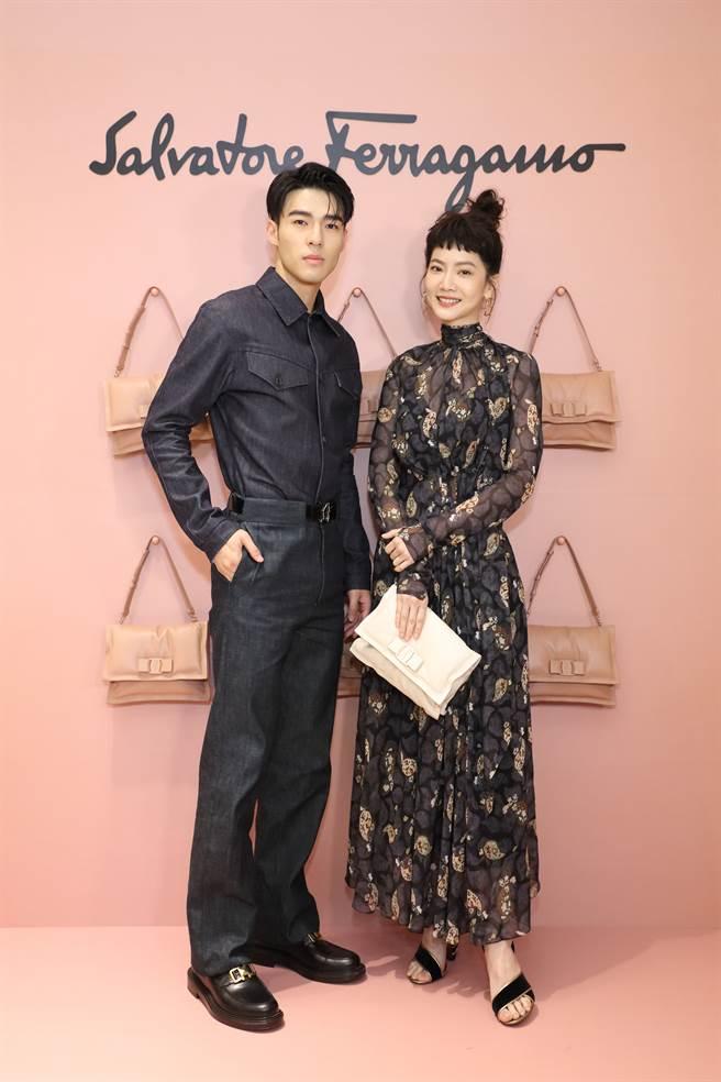 戏剧新星陈昊森(左)与人气女星曾之乔。(图/品牌提供)