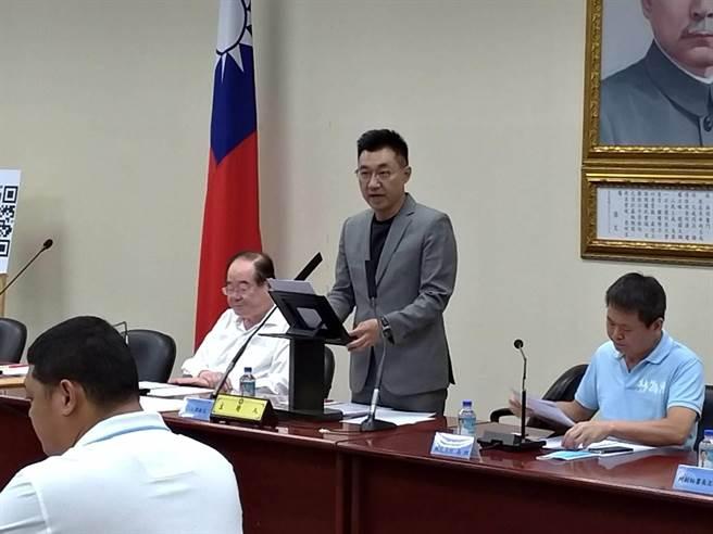 國民黨中常委支持取消赴海峽論壇,江啟臣表示國民黨善意不變。(黃福其攝)