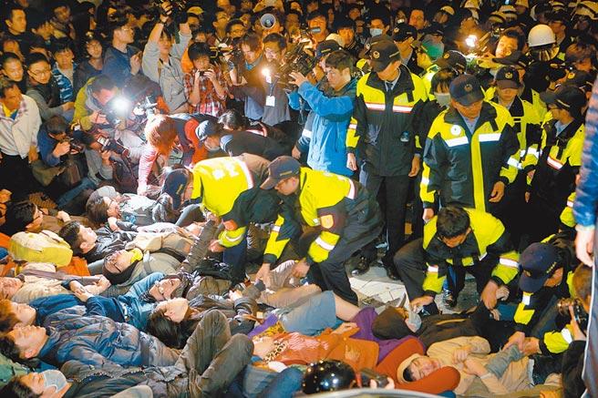 324行政院驅離案,37人自訴前總統馬英九等4人涉殺人未遂等罪,台北地院15日判決4人無罪。(本報資料照片)