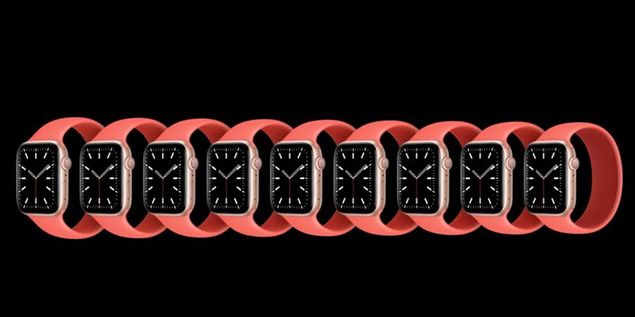 隨著Apple Watch Series 6發表,蘋果也推出全新的單圈錶環,可搭配全新的Apple Watch Series 6系列以及Apple Watch SE系列。(摘自蘋果官網)
