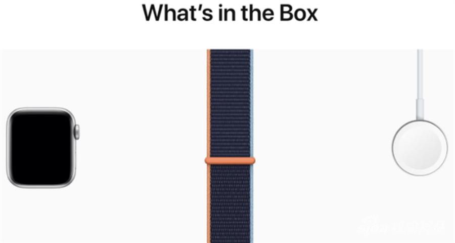蘋果官網顯示Apple Watch Series 6、Apple Watch SE盒內配件沒有充電器。(摘自蘋果官網)