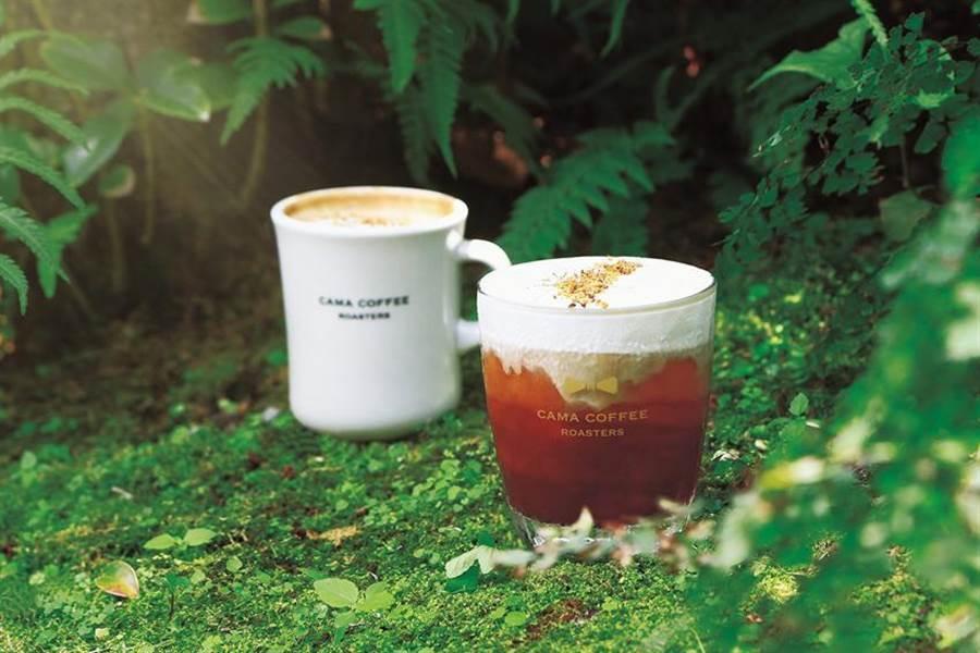 CAMA COFFEE ROASTERS豆留森林推出全新秋季菜單,咖啡師並調製出飄散桂花香的「桂花酒釀奶蓋咖啡」與「桂花酒釀拿鐵」應景。圖/cama cafe