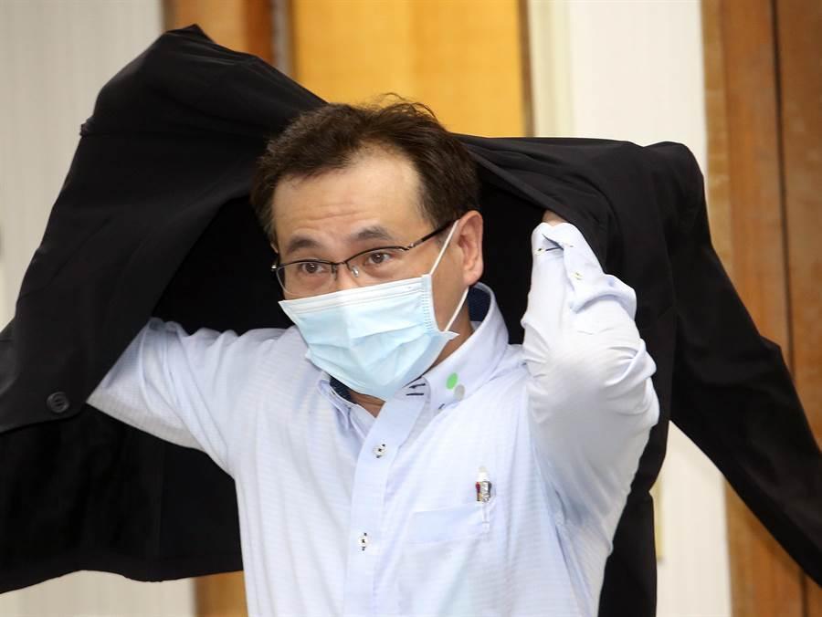 鄭運鵬說,國民黨心理脆弱,禁不起台灣人民檢驗。(范揚光攝)