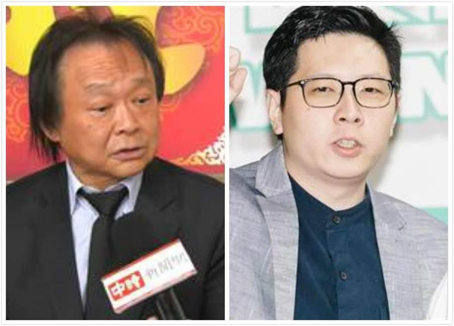 台北市議員王世堅(左)、桃園市議員王浩宇(右)。