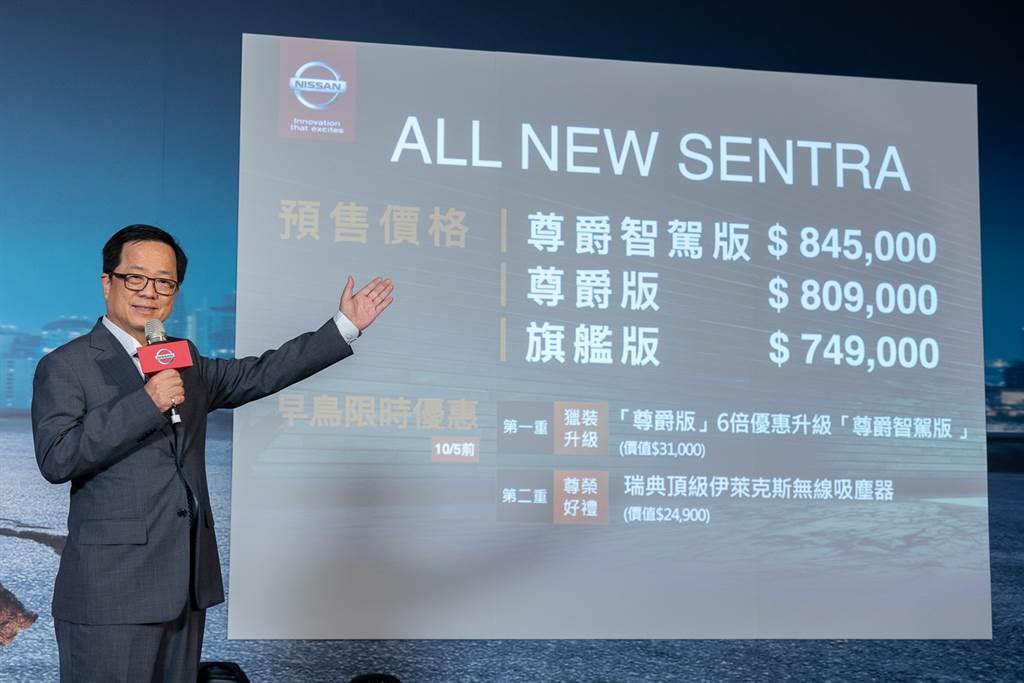 NISSAN ALL NEW SENTRA 預售價74.9萬元起 標配NIM主動安全配備 再享優惠升級6倍送