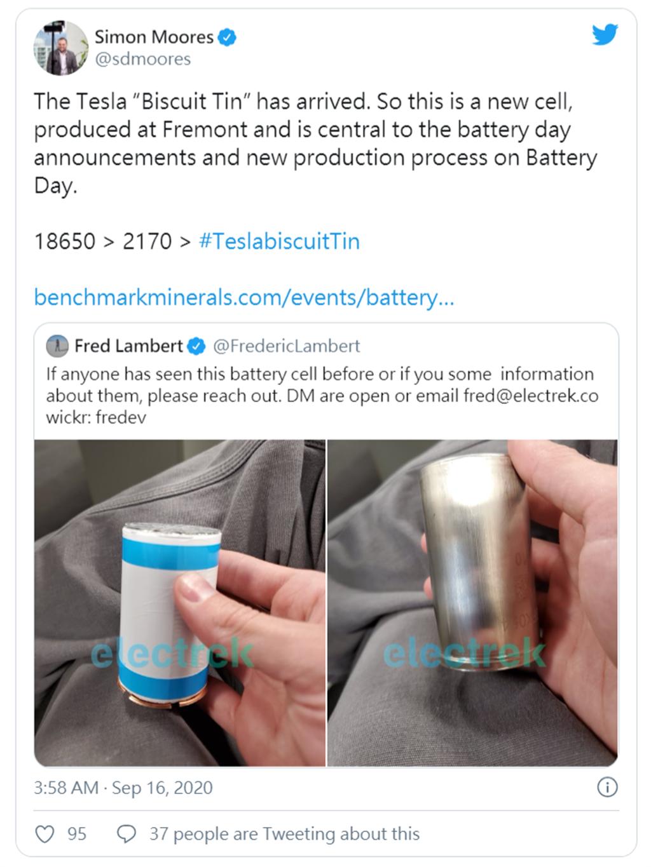 特斯拉神秘自產新電池是它!更大的「餅乾罐」電池使電量倍增,平價電動車取代燃油車更近一步