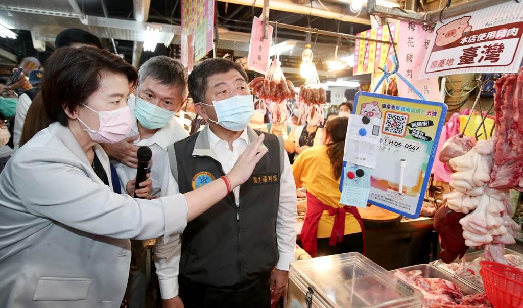 尷尬了!陳時中到迪化街推廣豬肉產地標示,慘遭民眾飆罵混蛋。