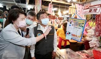 陳時中赴迪化街視察豬肉標示 被路過民眾罵「混蛋」