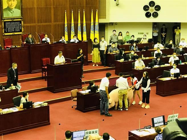 台北市長柯文哲酸衛服部長陳時中為美豬辯護很痛苦,直言若他說有問題,民進黨不敢硬幹。(張穎齊攝)