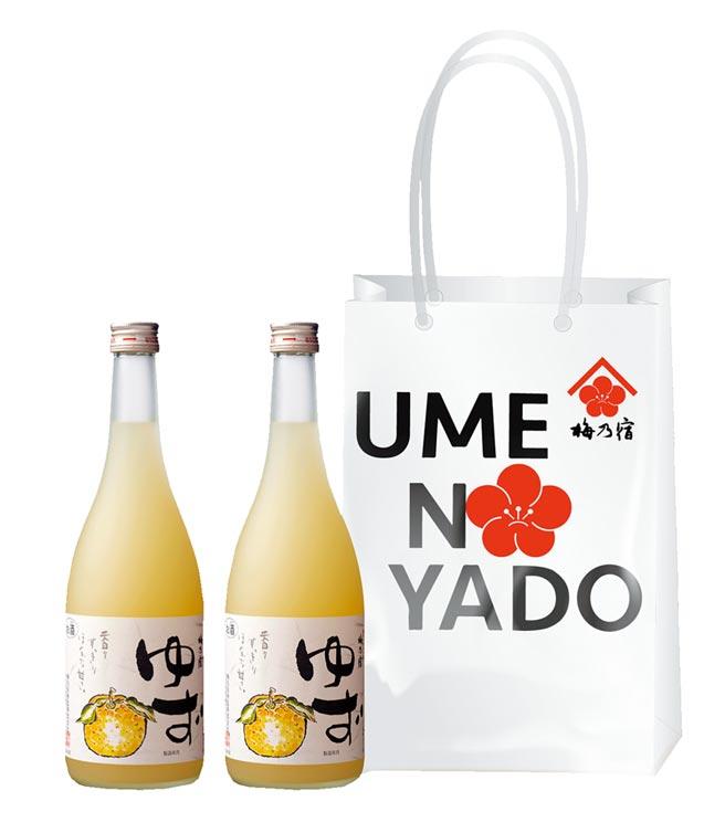 酸甜滋味「梅乃宿柚子酒雙入提袋組」,買酒網建議售價1,700元。圖/業者提供