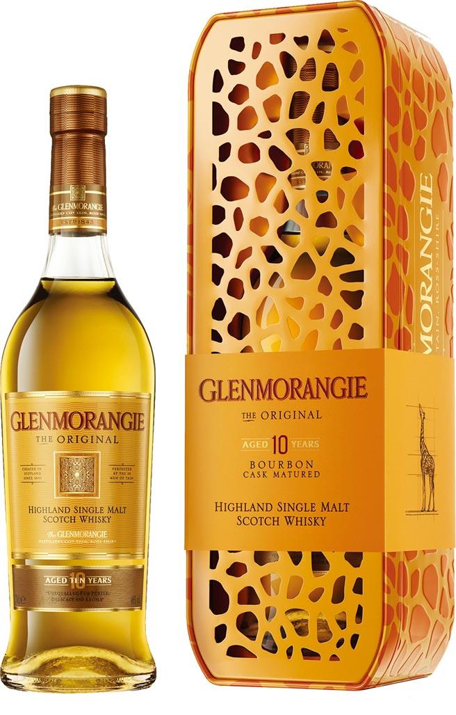 愛買量販「格蘭傑10年經典威士忌長頸鹿禮盒 」700ml/盒,原價820元、特價788元。圖/業者提供