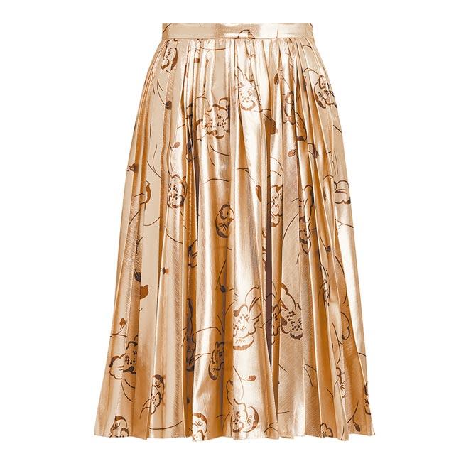 Ralph Lauren Collection CAMEO花卉印花金銀線半身裙,9萬300元。(Ralph Lauren提供)