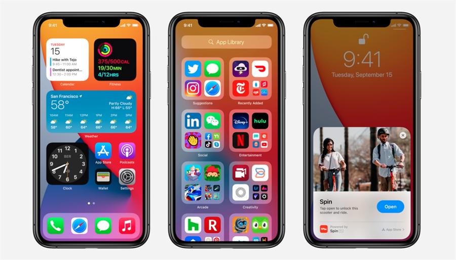 蘋果iOS 14正式版已釋出。(摘自蘋果官網)