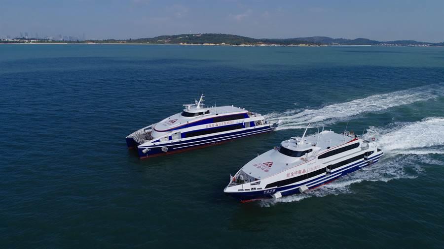金門縣府期待海上新遊程 ,帶來新一波旅遊盛況。(金廈海運提供)