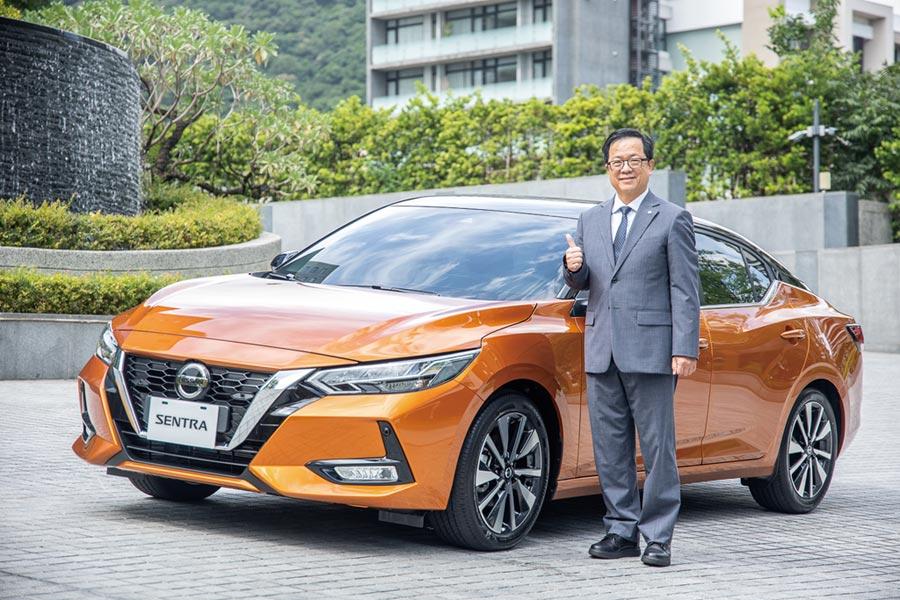 裕日車總經理李振成看好全新Sentra競爭力,能推升第四季業績起飛。圖/陳信榮