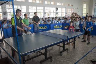 外埔區體育會送球具還籌組教練團 助外埔國小發展桌球運動