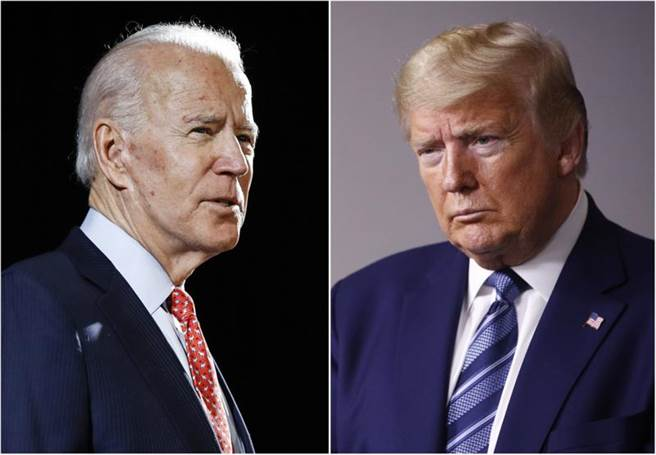 美國總統川普(右)與民主黨總統候選人拜登(左)。(合成圖/美聯社)