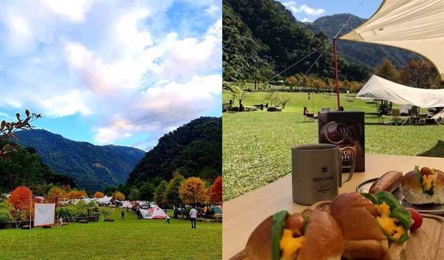 ◆ 露營區的落雨松紅由綠轉紅,景色相當迷人 ( 圖片來源:那山那谷休閒農場)