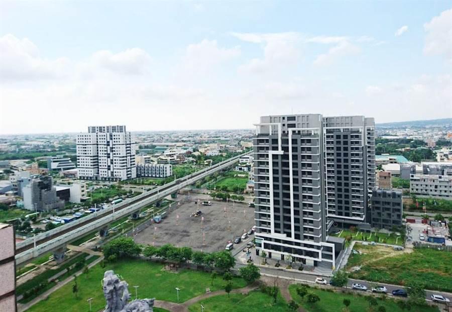 連續幾年,員林市受惠184公頃市地重劃,高樓大廈激增。(彰化縣政府提供/吳敏菁彰化傳真)