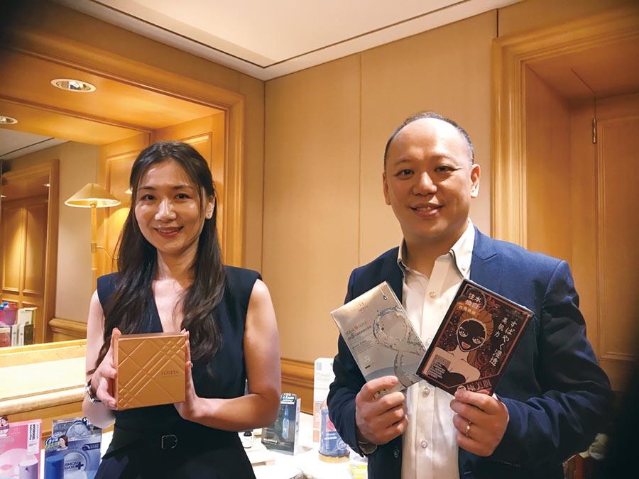 軒郁董事長胡蕙郁(左)以及總經理楊尚軒(右)。圖/杜蕙蓉