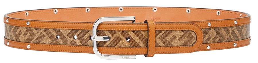 Fendi FF LOGO造型皮帶,2萬6000元。(Fendi提供)