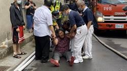 東海商圈氣爆4死 焦急母現場尋兒女險昏厥見劫後餘生哭癱