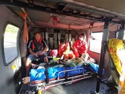 1腦震盪1溺水 空勤直升機1日雙島救援
