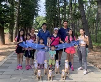 金門三代同遊中山林 全家人留下美好回憶