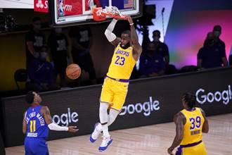 NBA》一眉哥轟37分 湖人宰金塊摘西決首勝