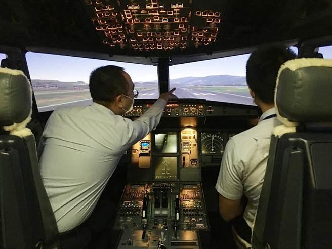 由台虎現役機師親自陪同帶飛(情境示範圖)。圖/台虎提供