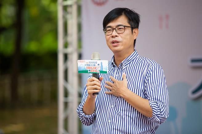 陳其邁強調,產業轉型、增加就業,是他競選重要政見。(袁庭堯攝)