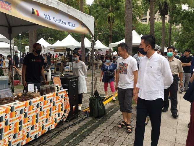 新竹生活節「國際日」登場,異國市集、跨國音樂帶你偽出國。(陳育賢攝)
