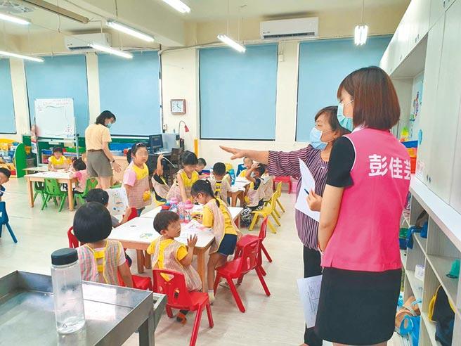 蘆洲國中附屬幼兒園開學後有21位幼童有發燒病徵。(戴上容攝)