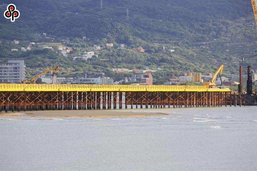 淡江大橋可望2024年完工。(張鎧乙攝)