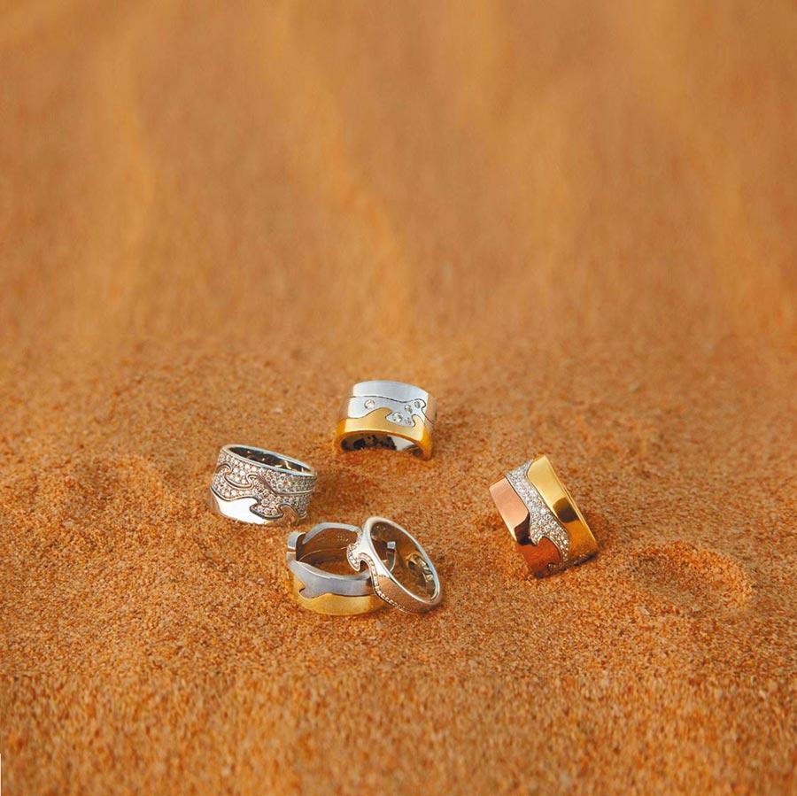 喬治傑生FUSION系列珠寶戒指,可混搭出萬種風情。(GEORG JENSEN提供)
