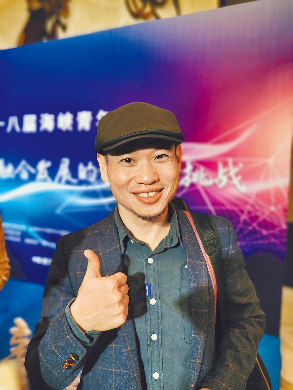 在武漢發展的台青導演薛穎穜分享在封城期間創作的4首歌曲和抗疫故事。(藍孝威攝)