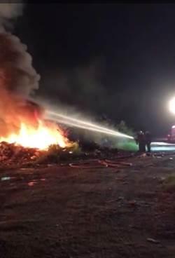 人為縱火?斗六市公所2處資源回收場15小時內2起火警