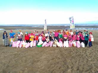 竹南長青之森淨灘 攜手社區清出200公斤垃圾
