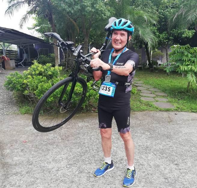 今年滿70歲的前總統馬英九靠著每天練習鐵人三項保持健康。(中華民國鐵人三項協會提供)