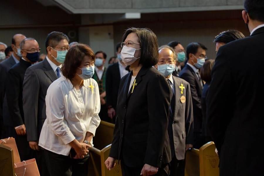 總統蔡英文出席故前總統李登輝追思告別會。(圖/摘自總統府flickr)