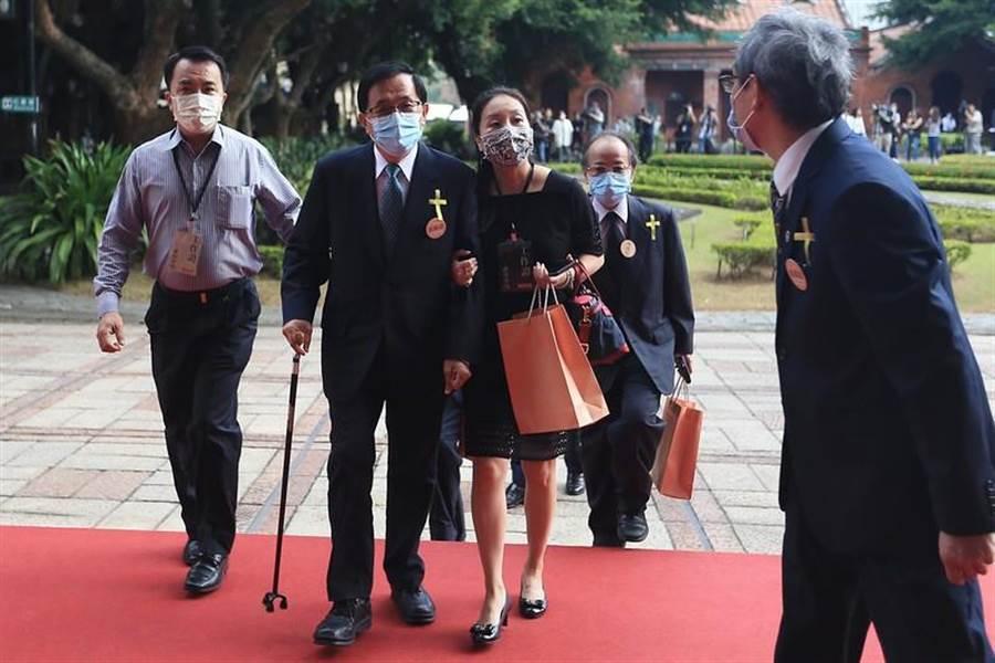 前總統陳水扁(左二)出席故前總統李登輝追思告別會。(圖/摘自總統府flickr)