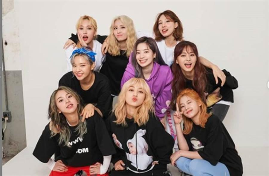TWICE是南韓超人氣女團。(圖/翻攝自TWICE官方IG)