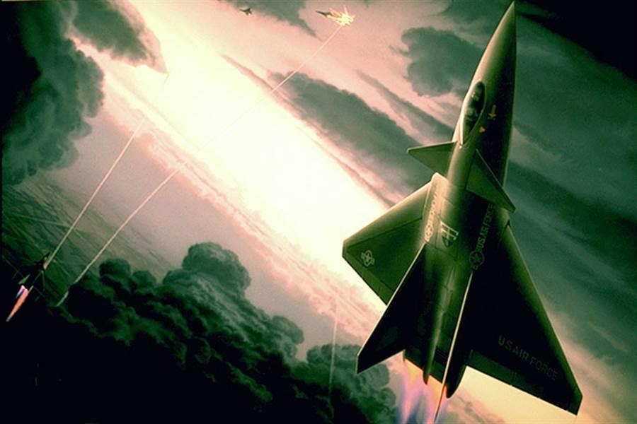 1980年,洛馬公司請科幻插畫家描繪ATF戰機的外型,然而純屬虛構。(圖/美國空軍)