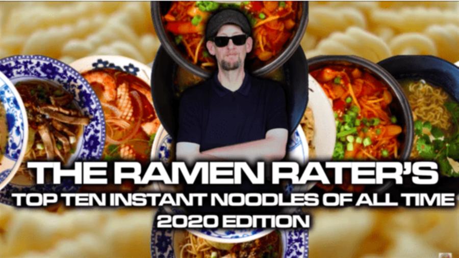 「究濃紅燒牛肉麵」獲得美國泡麵達人年度10大即食麵排行第5名。(擷取自The Ramen Rater影片)