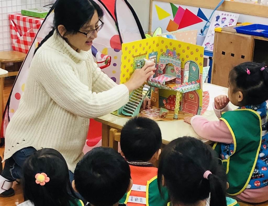 五堵國小附設幼兒園老師王利恩幫助家長接受孩子疑似患有自閉症,並積極尋找專業醫療機構協助。(基隆市政府提供/陳彩玲基隆傳真)